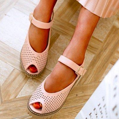 Peep Toe Platform Buckle Daily Chunky Sandals_12