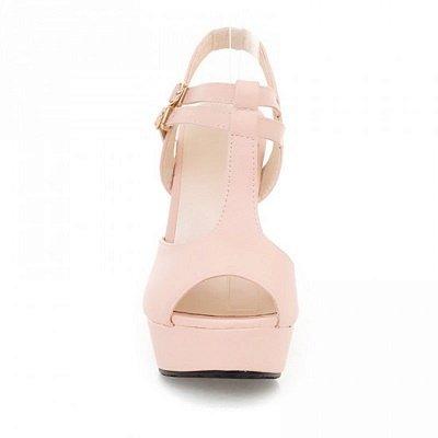 Platform Buckle Date Peep Toe Women Summer Sandals_12