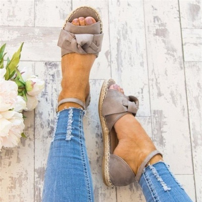 Ankle Strap Flats Lace Up Shoes Suede Espadrilles Sandals_8