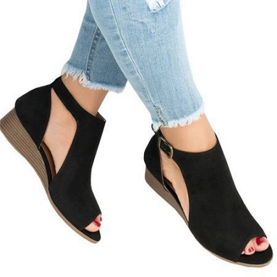 New Adjustable Buckle Casual Wedges Summer Sandals_2