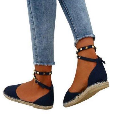 Comfortable Adjustable Buckle Rivet Sandals_6