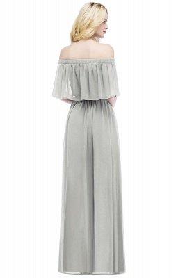 Cheap Off the Shoulder Floor Length Chiffon Bridemaid Dresses_6