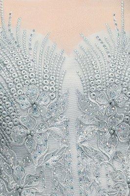Appliques Two-Pieces Silver Exquisite A-Line Chiffon Bridesmaid Dresses_7