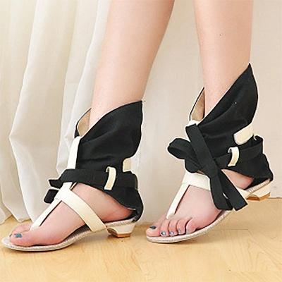 Daily Hollow-out PU Summer Sandals_6
