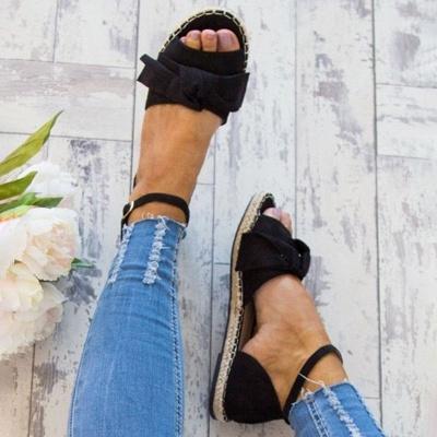 Ankle Strap Flats Lace Up Shoes Suede Espadrilles Sandals_7