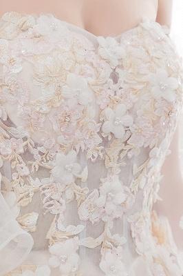NANCE   Puffy Off-the-shoulder Floor Length Lace Appliques Wedding Dresses_12