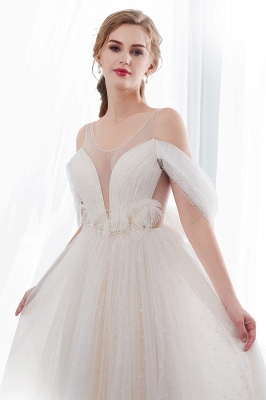 NANCY | Affordable Sleeveless Floor Length Lace Ivory Wedding Dresses_6