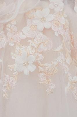 NANCE   Puffy Off-the-shoulder Floor Length Lace Appliques Wedding Dresses_13