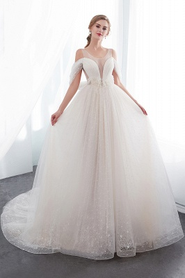 NANCY | Affordable Sleeveless Floor Length Lace Ivory Wedding Dresses_1