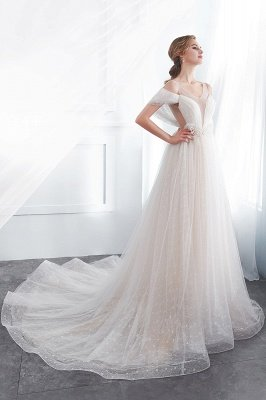 NANCY | Affordable Sleeveless Floor Length Lace Ivory Wedding Dresses_3