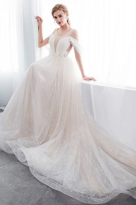 NANCY | Affordable Sleeveless Floor Length Lace Ivory Wedding Dresses_10