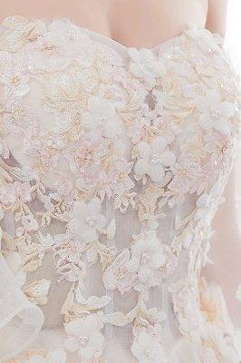 NANCE | Puffy Off-the-shoulder Floor Length Lace Appliques Wedding Dresses_11