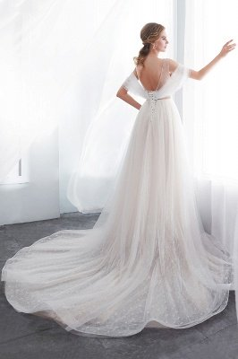 NANCY | Affordable Sleeveless Floor Length Lace Ivory Wedding Dresses_8