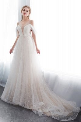 NANCY | Affordable Sleeveless Floor Length Lace Ivory Wedding Dresses_4