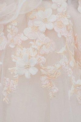 NANCE | Puffy Off-the-shoulder Floor Length Lace Appliques Wedding Dresses_12