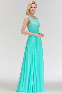 A-line Floor Length Lace Top Sleeveless Chiffon Bridesmaid Dress In Stock_6