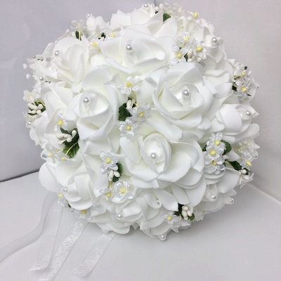 White Rose Wedding Bouquet with Small Flowers_1