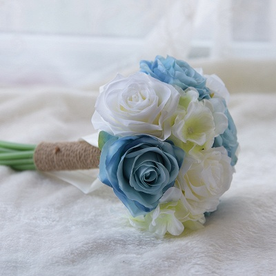 Real Touch Artificial Peony and Rose Wedding Bouquet_4