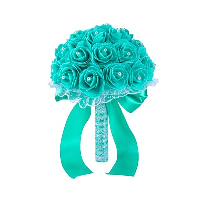 Colorful Rose Beading Bouquet for Wedding_13