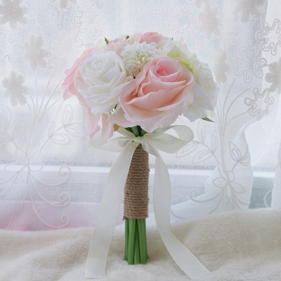 Real Touch Artificial Peony and Rose Wedding Bouquet_6