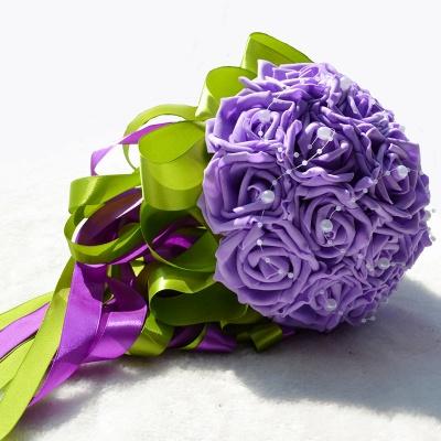 Gogerous Silk Rose Multiple Colors Wedding Bouquet_4