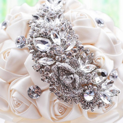 Slik Rose Beading Wedding Bouquet in Multiple Colors_9