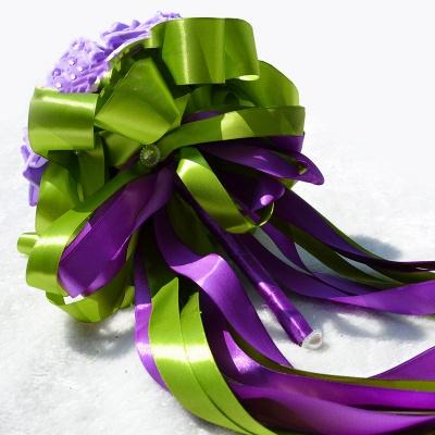 Gogerous Silk Rose Multiple Colors Wedding Bouquet_6