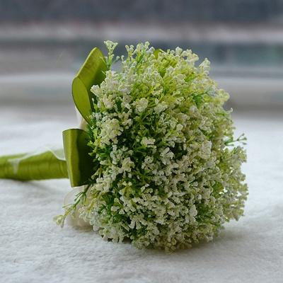 Green Babysbreath Real Touch Wedding Bouquet_4