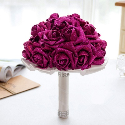 Sparkle Multiple Colors Rose Wedding Bouquet_2