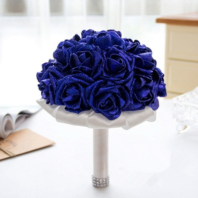 Sparkle Multiple Colors Rose Wedding Bouquet_6