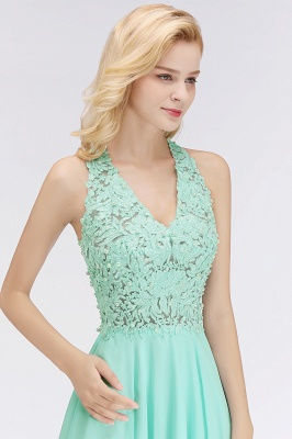 Cheap A-line V-neck Sleeveless Short Appliques Chiffon Homecoming Dress in Stock_10