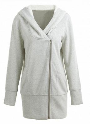 Women Autumn Winter Warm Coat Zipper Outerwear Hooded Sweatshirts_1