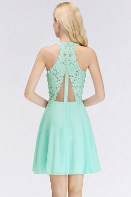 Cheap A-line V-neck Sleeveless Short Appliques Chiffon Homecoming Dress in Stock_11