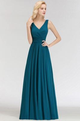 NORA   Cheap A-line V-neck Sleeveless Long Ruffles Chiffon Bridesmaid Dresses_6