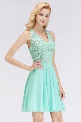 Cheap A-line V-neck Sleeveless Short Appliques Chiffon Homecoming Dress in Stock_8