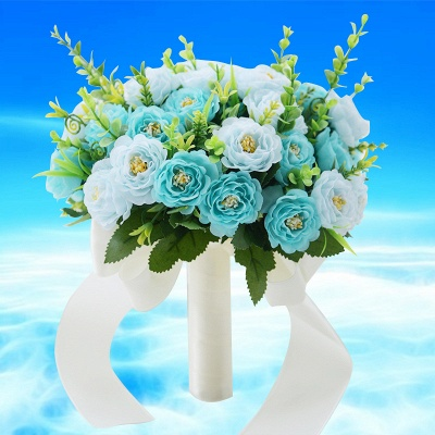 Artificial Rose Wedding Bouquet in Two Colors_4