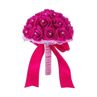 Colorful Rose Beading Bouquet for Wedding_6