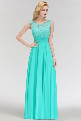 A-line Floor Length Lace Top Sleeveless Chiffon Bridesmaid Dress In Stock_7