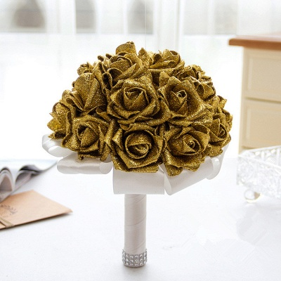 Sparkle Multiple Colors Rose Wedding Bouquet_4
