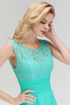 A-line Floor Length Lace Top Sleeveless Chiffon Bridesmaid Dress In Stock_10
