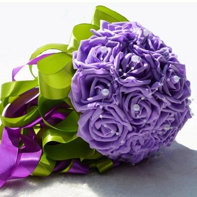 Gogerous Silk Rose Multiple Colors Wedding Bouquet_7