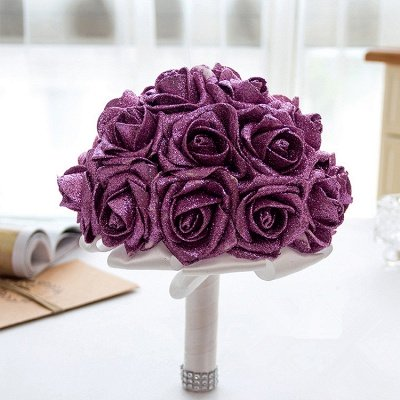 Sparkle Multiple Colors Rose Wedding Bouquet_5