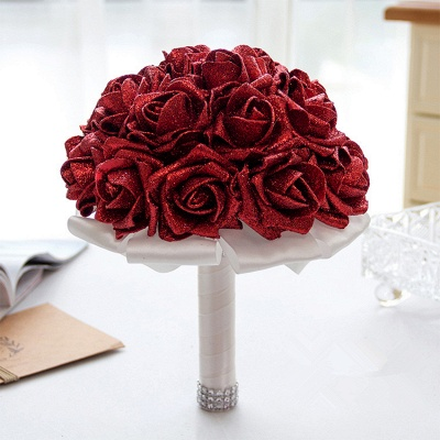 Sparkle Multiple Colors Rose Wedding Bouquet_8