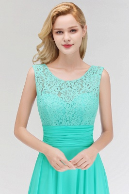 A-line Floor Length Lace Top Sleeveless Chiffon Bridesmaid Dress In Stock_9