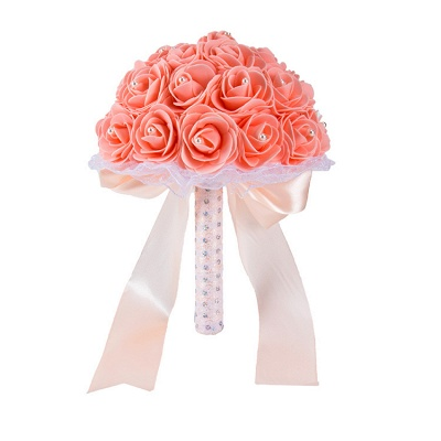 Colorful Rose Beading Bouquet for Wedding_4