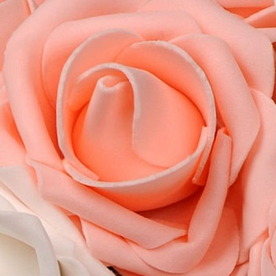 Two Colors Silk Flowers Wedding Bouquet with Ribbon_8