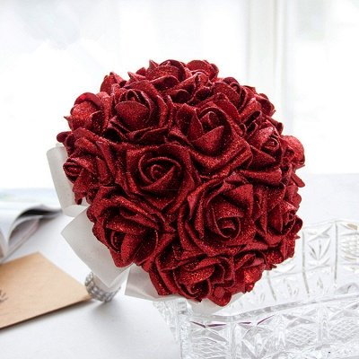 Sparkle Multiple Colors Rose Wedding Bouquet
