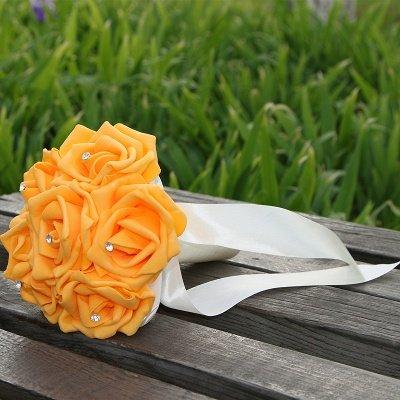 Simple Silk Rose wedding Bouquet in Multiple Colors_7