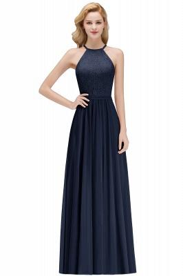 Elegant A-Line Chiffon Bridesmaid Dresses | Halter Lace Wedding Party Dresses_3