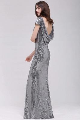 Mermaid Sparkly Sequins Scoop Short-Sleeves Floor-Length Bridesmaid Dresses_2